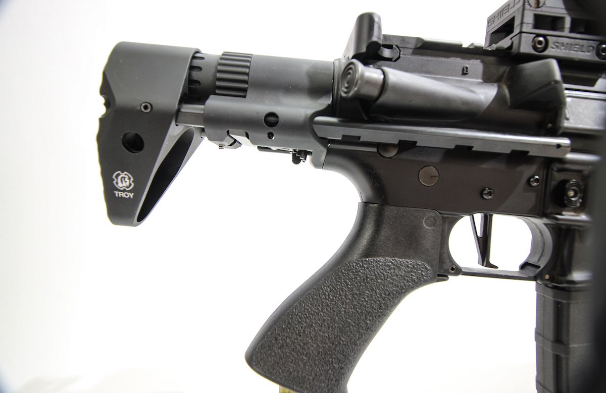 Side Rail Fully Collapsable Stocks – Troy's M7A1 and Tomahawk PDW Stock Systems