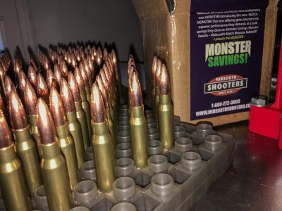 I loaded up a pile of ammo using Midsouth Shooters Supply Match Monster 168-grain projectiles. As you'll see, it shot pretty well.