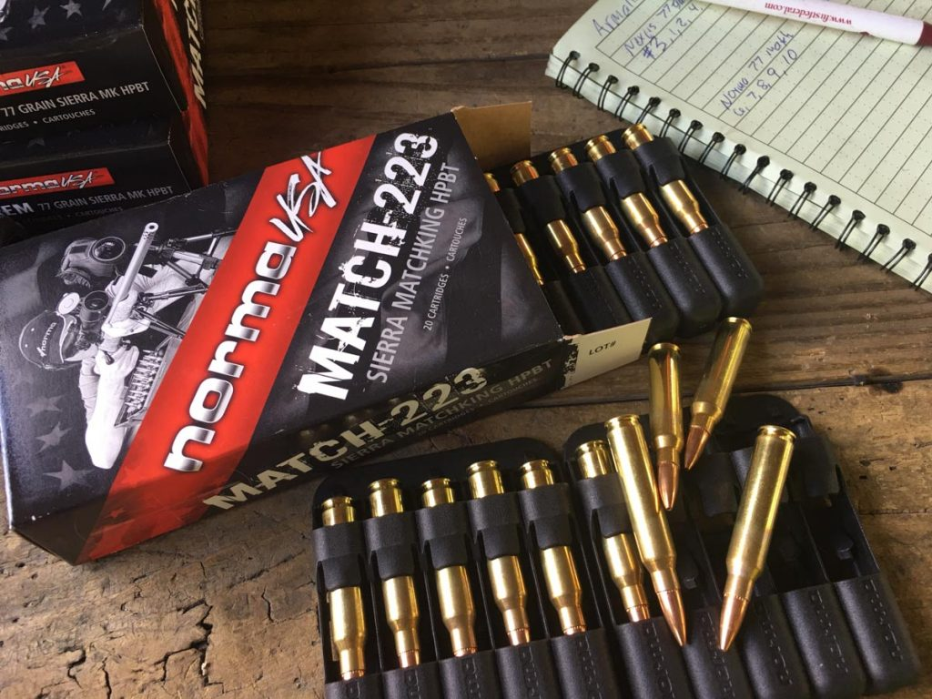 The Norma Match-223 77-grain ammo was accurate, and concentric, out of the box.
