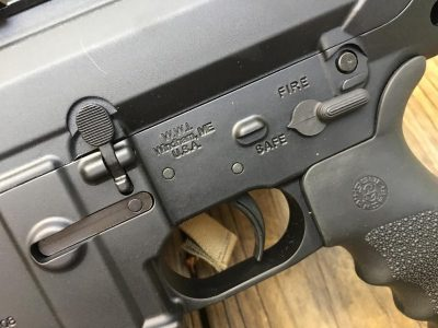 All the controls are right where you would expect, and for the most part, interchangeable with standard AR-15 parts.