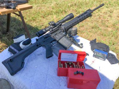 I did accuracy testing using a Hawke Optics Sidewinder Tactical 10x scope from 100 yards.