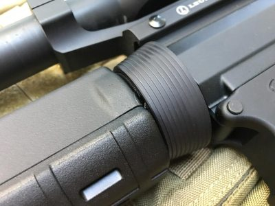 The handguard mounts with the standard delta ring, so it's not a free-floated system.