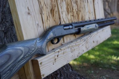 Author's first shotgun, a Remington 870. Bolt is almost worn shiny from use.