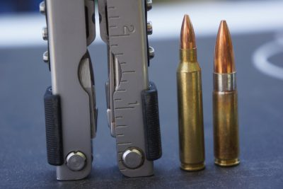 While the 5.56 (left) has a lot of great capabilities, working well out of a short barrel is not one of them. The 300 AAC Blackout (right) might be a great alternative.