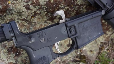 A nickel-boron-coated trigger system provides the Saint with a surprisingly good trigger pull.
