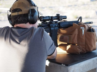 The author got to wring out the new Saint on the rifle range.