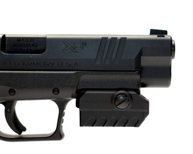 The MantisX device can be mounted on any firearm with a standard width rail.