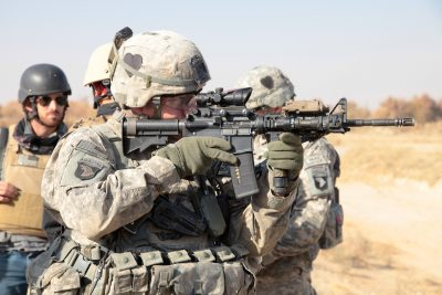 The mil-spec parts in an M4 Carbine get the job done, but don't look for a lot of refinement in most cases. U.S. Army photo by Spc. Ian Schell