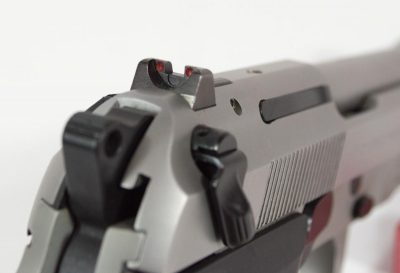 The rear sight does use a dovetail mount unlike the front.
