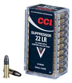 CCI Suppressor is optimized to reduce mess and keep the noise down.