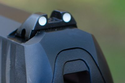The Creed sports high-quality steel three-dot sights.