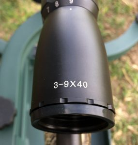 The scope has a 3-9X power range, which is one of the most common and popular with deer hunters.