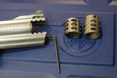 The barrel features an integrated, removable muzzle brake system and comes with two different versions standard.