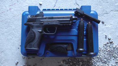 The author tried out an S&W C.O.R.E. pistol with a standard and a threaded barrel, direct from the factory.