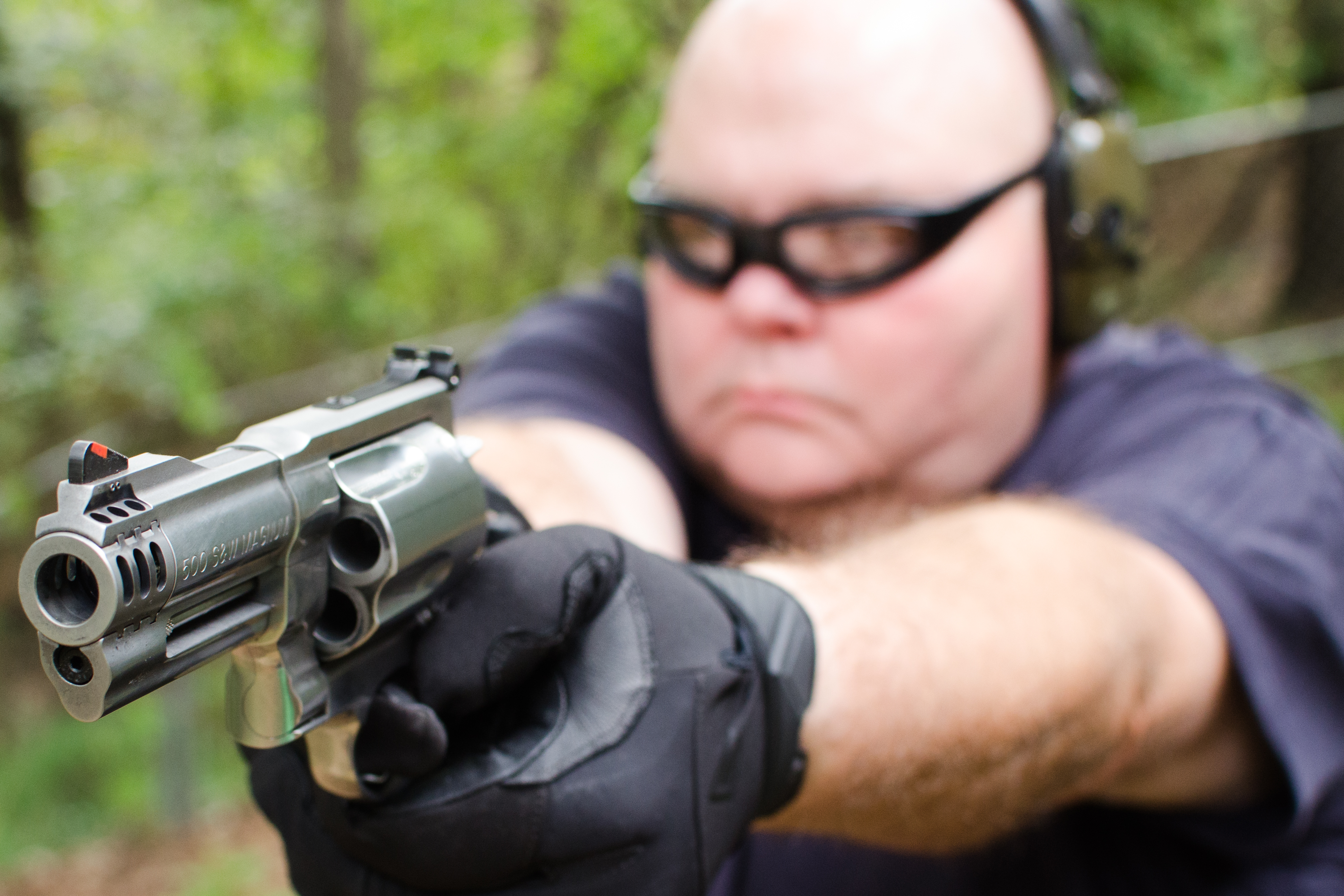 The 4-inch S&W .500 Magnum delivers wrist-wrenching power, but can be a handful to fire.