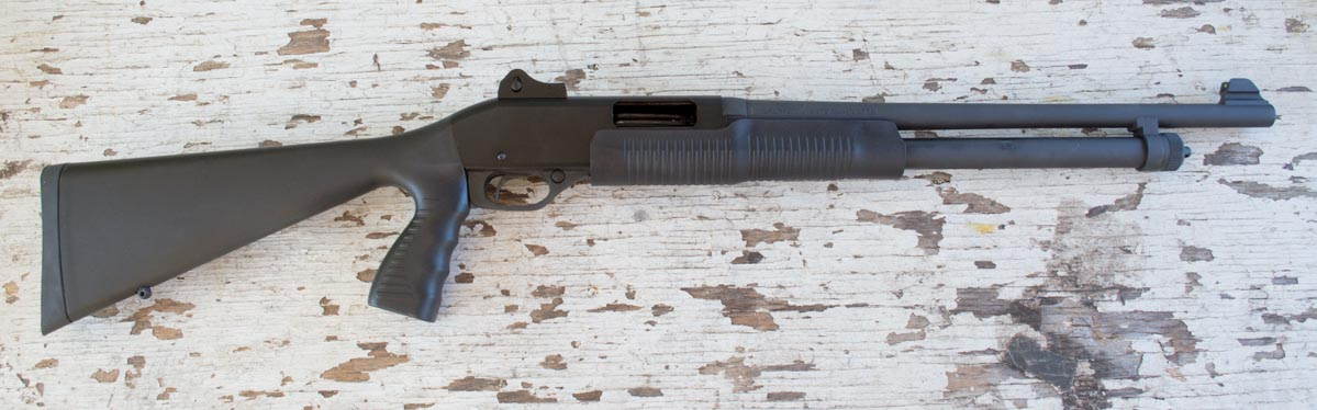 The Stevens 320 Pump-action shotgun. This one is chambered in 20-gauge.