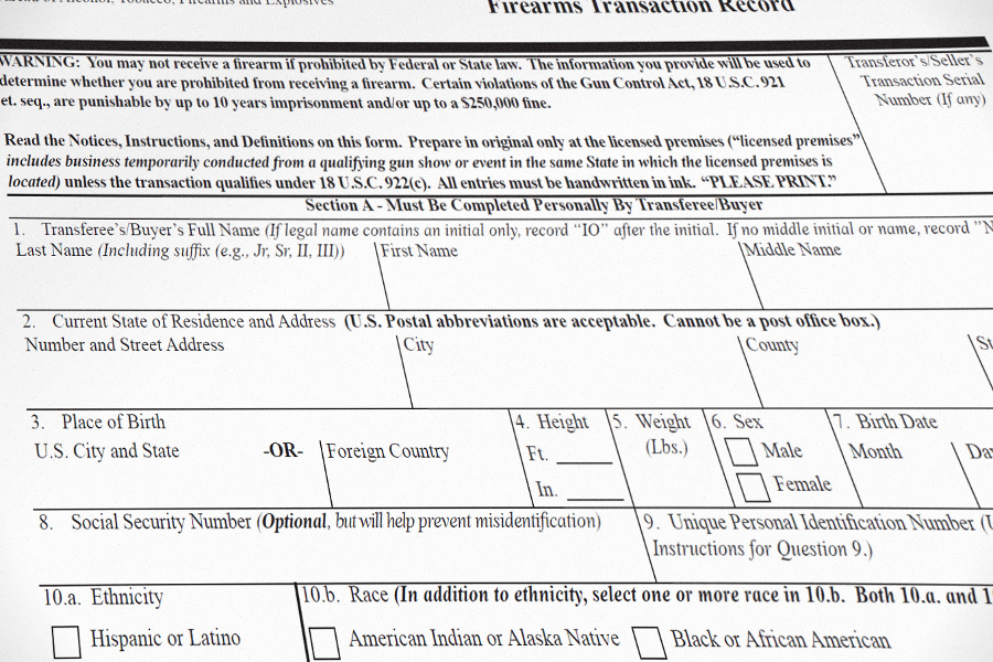 form 4473 mental illness  New FFL Form 8 for Background Checks Incoming