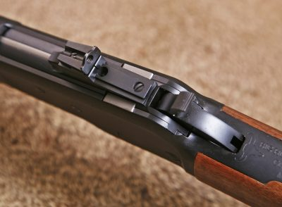 The Model 89 features a Marble receiver-mounted aperture sight.