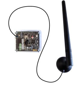 The SAFELERT system comes with an external antenna to attach to your safe to ensure a solid signal.