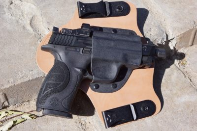 This Crossbreed IWB Super-Tuck is cut to accept a pistol with a red dot mounted.