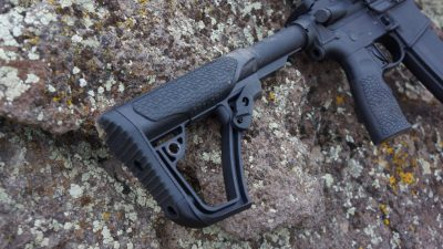 The butt stock and pistol grip of the M4V7 Pro are Daniel Defense's own proprietary parts and well designed.