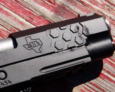 The Cerakote finish proved very durable, making this a real working gun, not a safe queen.