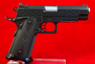 The double-column magazine STI Hex Tactical 2011 in 9mm is rugged elegance and a great performer.