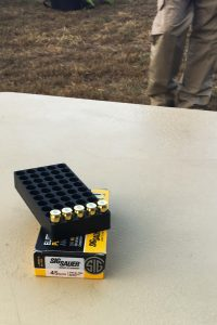 The author used Sig Sauer Elite FMJ ammo for the qualification course he ran.