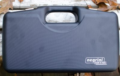 The 1911 Pistol Case from Negrini is a well made accessory for your pistol. Note the carbon fiber-type texture.