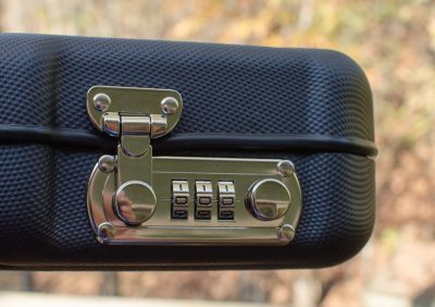 The Negrini case features a secure combination-type lock.