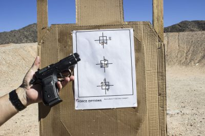 The author was able to wring some really good results out of the C100 on the range.