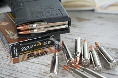 The newest member of the Sig Sauer Ammunition HT family is the 60-grain .223 load.