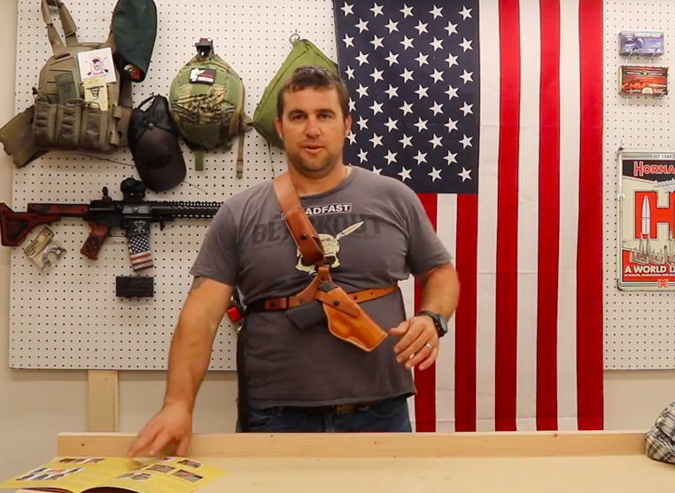 Get a Diamond D Leather Chest Holster for Your Man-Sized Gun