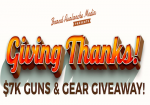Enter the Giving Thanks Giveaway to Win $7K in Guns & Gear