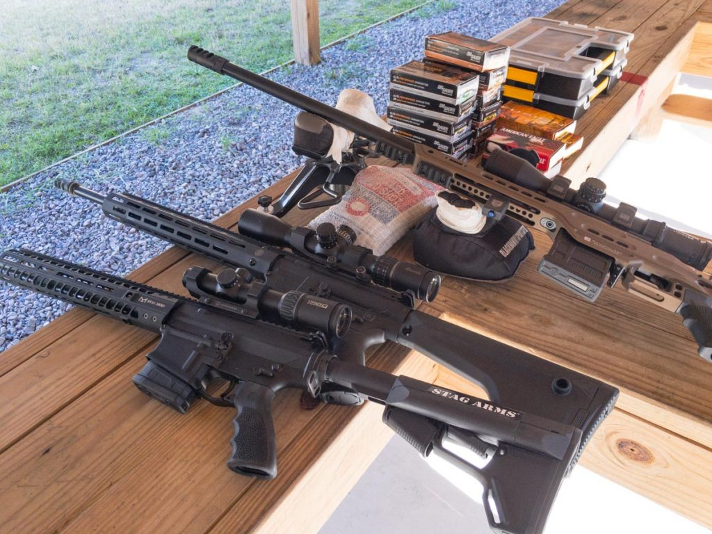 """I alternated rifles to keep them all in a """"warm barrel"""" state."""