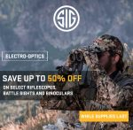 SIG Mega Blowout Sale: Up to 50% Off Riflescopes, Binos, Battle Sights!