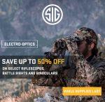 SIG Mega Blowout Sale: Up to 50% Off Riflescopes, Binos, Battle Sights!