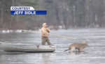 WATCH: Hunters Save Trophy 8-Pointer Stuck on Frozen Lake