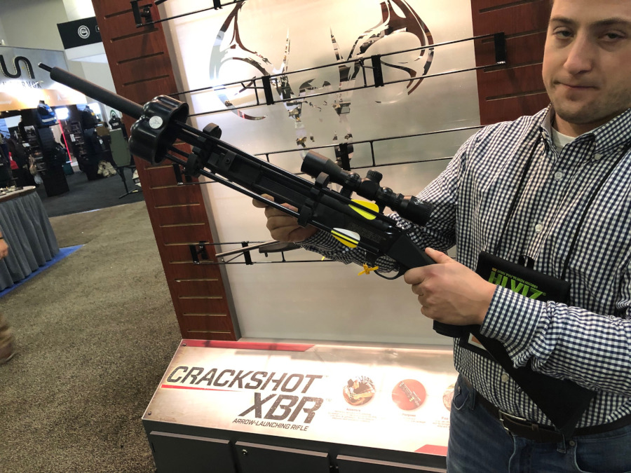 Part Rifle, Part Crossbow, Pure Traditions: The Crackshot XBR Arrow Launcher