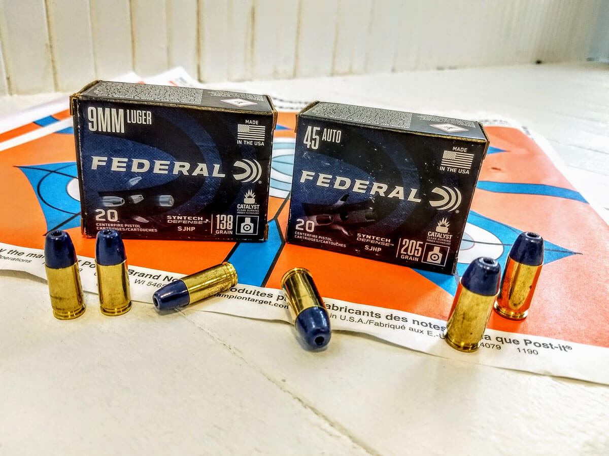 Testing Self-Defense Handgun Ammunition: Federal Premium's Syntech Defense and Train + Protect