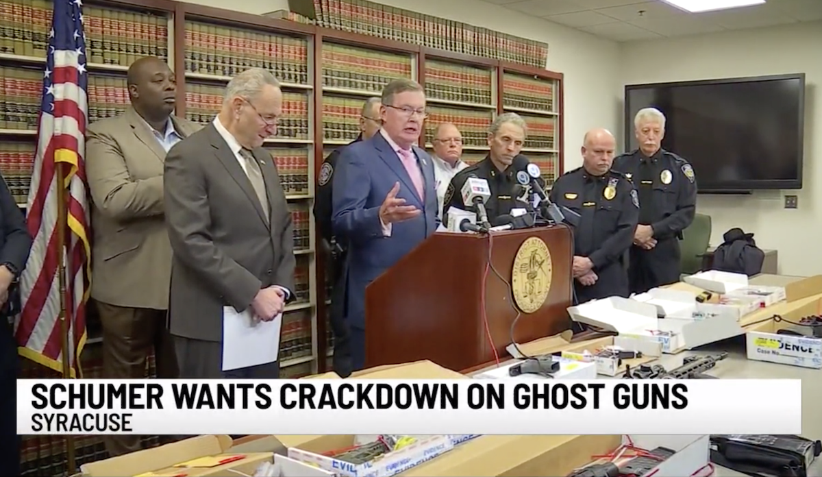 Schumer Calls on DOJ, ATF to Crack Down on 'Ghost Guns' (Gun Parts, Kits)