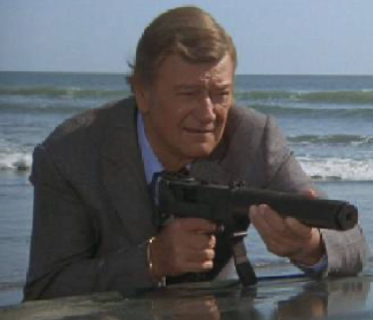 The Manliest Actor in Hollywood and the Machinegun that Almost Killed Him