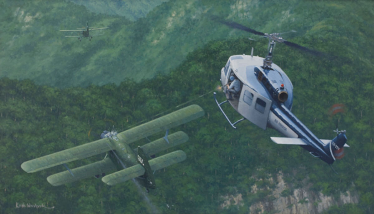 When a CIA Huey Won a Dogfight with a Communist Biplane