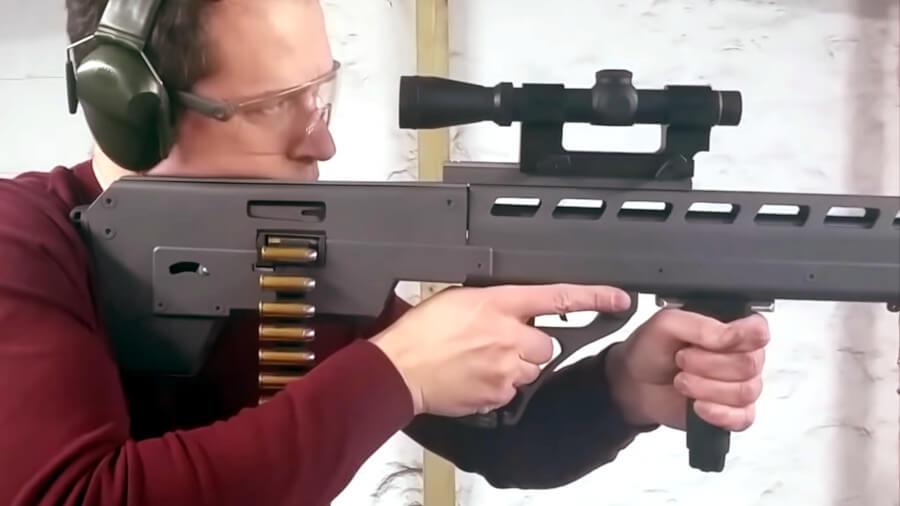 UK Man Makes Compliant Belt-Fed Lever-Action .44 Magnum Bullpup