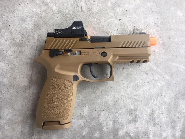 SIG AIR Reflex Sight: $49 Red Dot Handgun Trainer