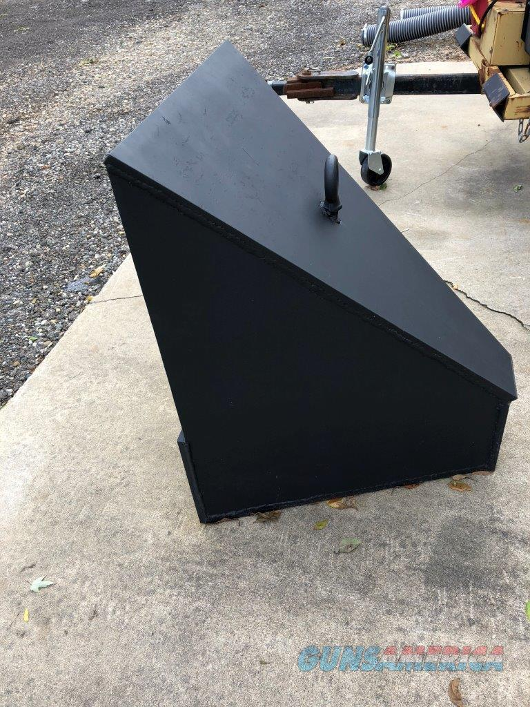 Custom built target trap  Non-Guns > Targets > Steel Targets > Rifle