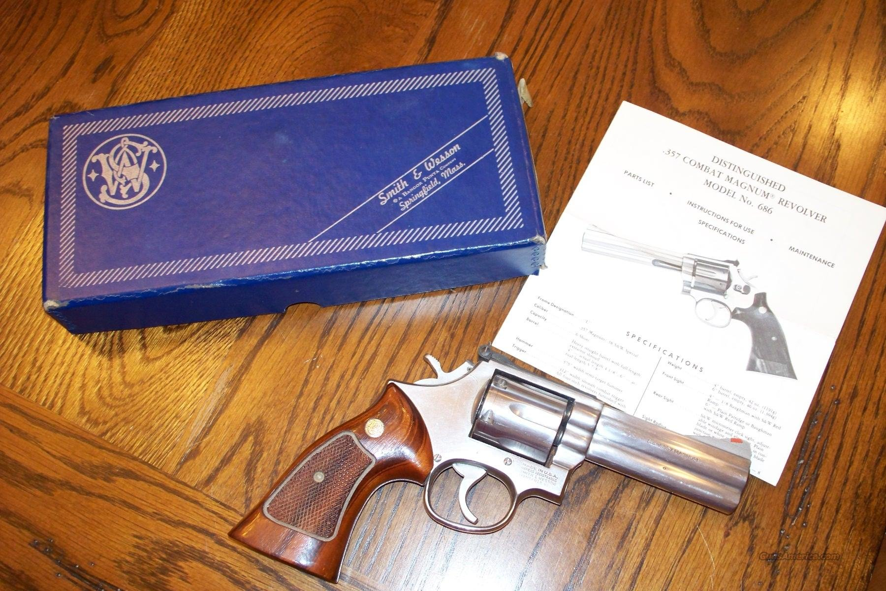 Smith and Wesson .357 Model 686 Stainless  Guns > Pistols > Smith & Wesson Revolvers > Full Frame Revolver