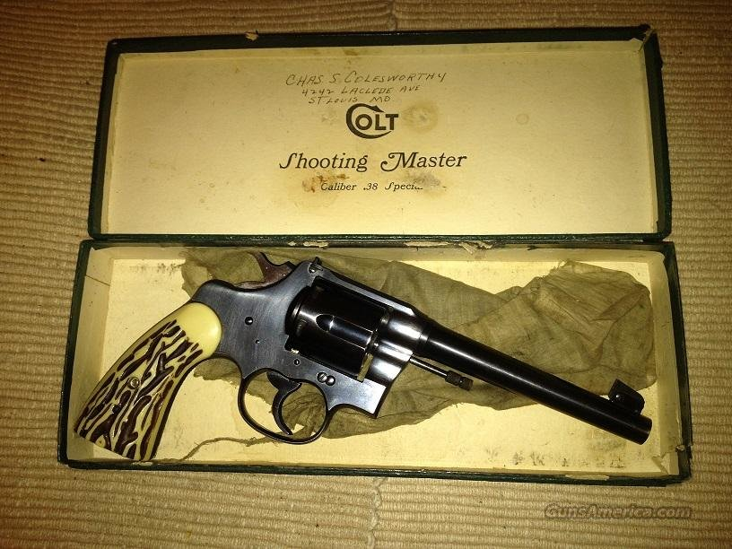 Colt Shooting Master .38 Special  Guns > Pistols > Colt Double Action Revolvers- Pre-1945