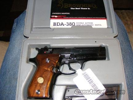 NIB Unfired FN Browning BDA-380  .380 Auto DA/SA -SOLD PENDING FUNDS  Guns > Pistols > Browning Pistols > Other Autos
