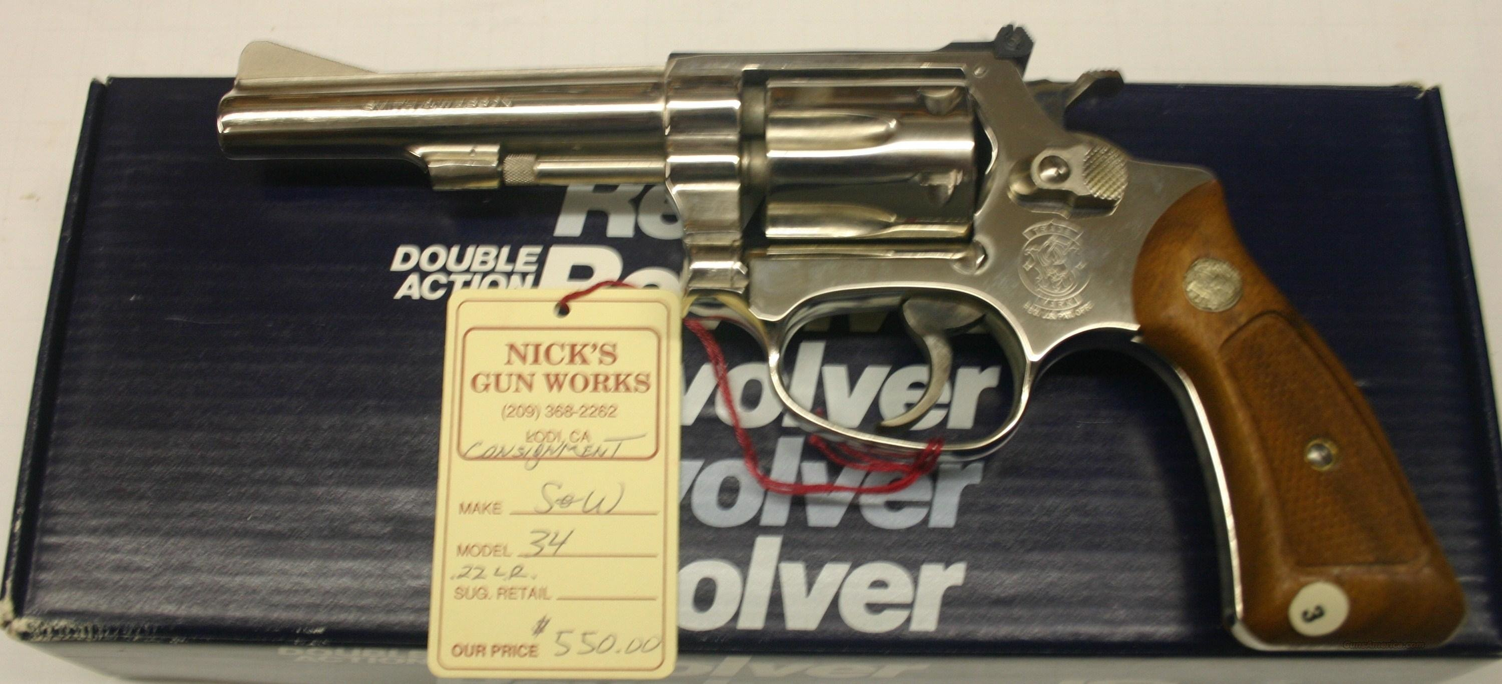 Smith & Wesson Model 34 .22LR NIB  Guns > Pistols > Smith & Wesson Revolvers > Full Frame Revolver